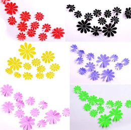 3d flower decorations for home NZ - 2019 New 3D PVC Flower Wall Stickers Home Decor Flower Decals For Kids Room TV Wall Stickers Kitchen Kids Wall Sticker