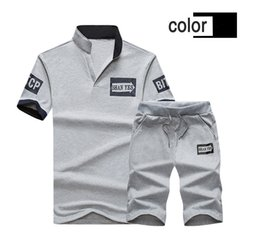 Slim Suits Sale Australia - Mens Tracksuits Multicolors Slim Fit Large Size Fitness Outdoor Jogging New Summer Fashion Hot Sale Casual Type Suits