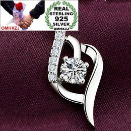 $enCountryForm.capitalKeyWord Australia - OMHXZJ Wholesale Heart Fashion Only Love OL Woman Girl Gift Zircon 925 Sterling Silver Pendant Charms PE86 ( NO Chain Necklace )