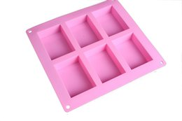 $enCountryForm.capitalKeyWord UK - 6 Case Rectangle Soap Mold Silicome Rubbber Pink Color Durable Printing Heat Resistant High Quality Baking Moulds