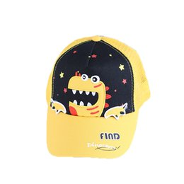cute dinosaur cartoons Australia - Kids Hats Summer Cartoon Dinosaur Children's Mesh Cap Super Cute Personality Shade Baseball Cap Baby Kids
