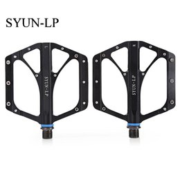 Pedals For Road Bicycle Australia - SYUN-LP Paired Fashion Aluminum Alloy Bike Pedal for Mountain Road Bicycle Replaceable Pins High End Ultralight Sealed Bearing