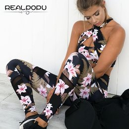$enCountryForm.capitalKeyWord Canada - Realpopu Printed Flower Tracksuit Fitness Workout Tight Crop Tank Top and Push Up Legging Long Pants Suit 2 Two Piece Women Set