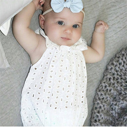 jumpsuit babies Australia - 2017 Fashion Summer Girl Bodysuits Newborn Cute Casual Layette Jumpsuit Kids Baby Clothes Girls Overalls Children Clothing