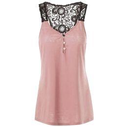 $enCountryForm.capitalKeyWord UK - Shirt Womens Lace Patchwork crop top Button Blouse Shirt Crop Tank Tops Vest Plus Size By Fashionable Women 2019