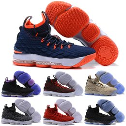 a82952cdfd7c Cheap new Men Kith X Lebron 15 Diamond Turf low tops kids basketball shoes  Bred Black Red White Gold Christmas sneakers