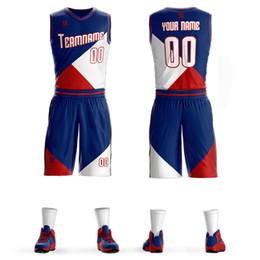 d56888b42 2019 Cheap Men Basketball Set Uniforms kits Sports clothes Kids basketball  jerseys college tracksuits DIY Customized