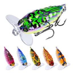 4cm Lures Australia - 6-color 4cm 4g Cicada Plastic Hard Baits & Lures Fishing Hooks 8# Hook Artificial Bait Pesca Fishing Tackle Accessories