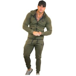 $enCountryForm.capitalKeyWord Australia - Sportswear Tracksuits Men Sets Running Gym Tracksuit Fitness Body building Mens Hoodies+Pants Jogger Sport Suit Men Clothing