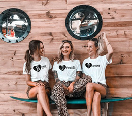 best wholesale t shirts Australia - 1 pcs Best Frieds Forever Harajuku Tees Women 80s 90s Fashion Grunge T Shirt Best Friend Matching Shirt BFF Friend Gift