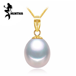 Discount s925 gold - MINTHA 18K Yellow Gold peandant pearl Jewelry antlers necklaces & pendant for lovers pearl pendants send s925 silver nec