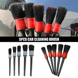 $enCountryForm.capitalKeyWord Australia - 5Pcs Car Wash Brush Vehicle Beauty Tool Air Conditioning Air Outlet Dashboard Dust Brush Cleaner Auto Accessories Detailing Tool