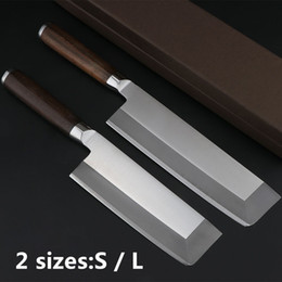 Chinese Cleavers NZ - Stainless Steel Slicing Knife Japaness Chef Knives Kitchen Knife with Color Wood Handle Cleaver Cutlery (Size: S L)