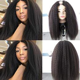 $enCountryForm.capitalKeyWord Australia - 100% Human Hair 100% Unprocessed Brazilian Remy Hair Kinky Straight U Part Wigs For Black Women Open Yaki Straight Wig