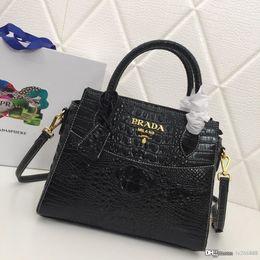 exquisite ladies handbags 2019 - New fashion crocodile pattern lady handbag exquisite generous black blue purple designer bag leather number: 8960. cheap