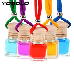 car scents wholesale 2019 - YOSOLO Car Air Freshener Hanging Bottle Pendant Scent Diffuser 10ML Automobiles Perfume Car Decorations Ornament Accesso