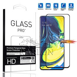 Star Phones Screen Australia - Full Glue Full Cover Tempered Glass Phone Screen Protector For Huawei P30 lite Mate 20 P SMART 2019 Samsung s10 E J7 J8 A8 A9 Star A70 A90