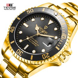 $enCountryForm.capitalKeyWord Australia - Tevise Top Brand Men Mechanical Watches Automatic Business Stainless Steel Watch Fashione Luxury Gold Clock Relogio Masculino J190706