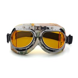 pilot goggles motorcycle helmet Australia - Foldable Moto Flying Vintage Motorcycle Goggles Biker Pilot WWII Helmet Goggles Cruiser Scooter Glasses Motorbike Motor