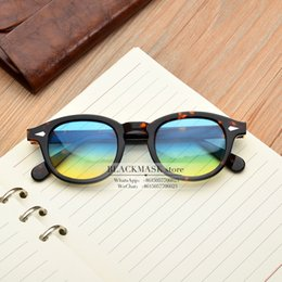 Toptan satış JackJad Moscot Yeni Moda Johnny Depp Lemtosh Stil Yuvarlak Güneş Ton Okyanus Lens Marka Tasarım Parti göster Güneş Gözlükleri óculos De Sol
