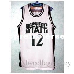 $enCountryForm.capitalKeyWord NZ - Cheap #12 MATEEN Cleaves Michigan State Bsketball Jersey Retro vest T-shirt Embroidery Stitched Customize any size and player name