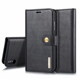 Iphone 5s Flip Case Magnetic Australia - Detachable Case For iPhone XS MAX X XR Leather Case Luxury Magnetic Flip Wallet Phone Cover For iPhnoe 5s SE 6s 7 8 plus Bag