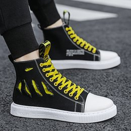 koreans fashion sneakers NZ - Fashion Sneakers Men Cool Street Canvas Shoes 2019 New Trend Korean Version of The Spring Tide Breathable Men's Shoes