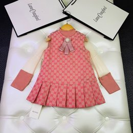 $enCountryForm.capitalKeyWord Australia - Kids Designer Clothesautumn Girls' Suit Kids Suit Two-piece Vest With Dress Suit Close To The Top Quality Lovely Style Of Pure Cotton