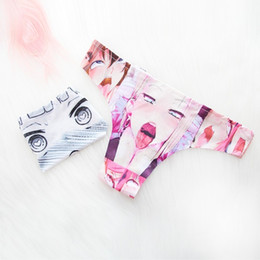 $enCountryForm.capitalKeyWord Australia - Hot Sexy Women Unique Design Anime Pattern cartoon Printed Girl's ice silk Underwear Triangel Panties Summer costume T-Thong