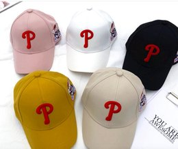 ball caps letter p Australia - Han version spring and summer male and female children P letter cap baby pig baseball cap embroidery letter sunshade hat tide