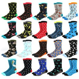 wedding dresses for men red color UK - men socks cotton funny Alien socks for man women novelty casual dressing color crew for happy wedding accessories gift