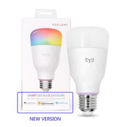 Bulbo original Xiaomi Youpin LED inteligente Yeelight 1S colorido de la lámpara 10W E27 800 lúmenes de control por voz para Xiaomi inteligente lámpara de Google Asistente 300 en venta