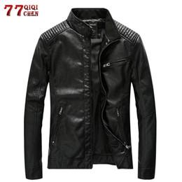 $enCountryForm.capitalKeyWord Australia - 5XL Pu Leather Jackets Men Spring Autumn Casual Slim Fit Windbreaker Bike Cowboy Jacket Motorcycle Faux Leather Business Coat