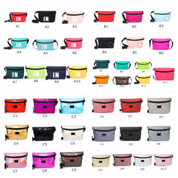Wholesale Pink Black Fanny Packs Colors Waist Belt Bag Fashion Beach Travel Bags Waterproof Handbags Purses Mini Outdoor Cosmetic Bag