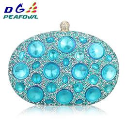 $enCountryForm.capitalKeyWord Australia - Dg Peafowl Giant Light Blue Rhinestones Women Evening Bags Metal Minaudiere Wedding Party Crystal Clutch Handbag Formal Purses Y190626