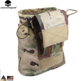 Magazine duMp pouch online shopping - EMERSONGEAR Drop Pouch Dump Pouch Tactical Molle Magazine Airsoft Paintball Hunting Tool Mag EM9041