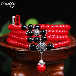 $enCountryForm.capitalKeyWord Australia - Red Coral Stone Strand Bracelets Round 6mm Size Beads Classic Jewelry for Women Boho Style Summer Lady Girl Wholesale Jewelry Bracelet