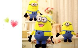 $enCountryForm.capitalKeyWord Australia - Despicable ME Movie Plush Toy 25cm Minion Jorge Stewart Dave Minions 3D eyes plush toys with tags free shipping t476