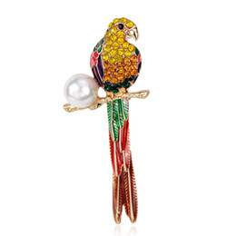 $enCountryForm.capitalKeyWord UK - Wholesale Large Bird Owls Crystal Enamel Brooches Antiques Bouquet Parrot Brooch Pin Scarf Clips Jewelry Free Shipping