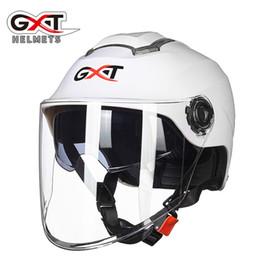 $enCountryForm.capitalKeyWord Australia - Free size Summer Double Visor Sunscreen GXT Electric Motorcycle Helmet women men Half Face Motorbike Helmet Safety