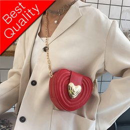 heart shape straw NZ - Sweet Heart Shaped bag 2019 Summer Fashion New Quality PU Leather Women's Designer Handbag Chain Mini Shoulder Crossbody Bags