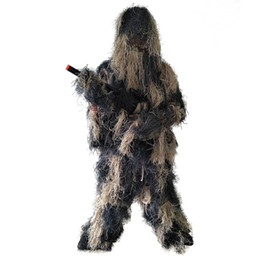 Discount hunting clothing set - Quality 5 Pcs set Ghillie Suit, Camouflage Clothing, Clothes and Trousers for Jungle Hunting, Shooting, , Wildlife Photo