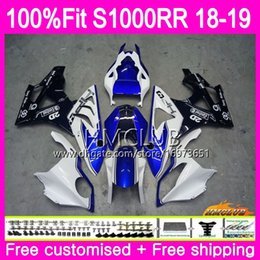 mold body Australia - Injection mold For BMW S 1000RR S1000 RR S1000RR 18 19 Bodywork 34HM.15 Blue white S1000-RR S 1000 RR 2018 2019 OEM Body 100% Fit Fairing