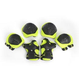 Wrist roller online shopping - 6PCS Cycling Roller Skating Skateboard Fitness Running Knee Support Braces Elbow Knee Hands Wrist Safety Protection Guard Pads