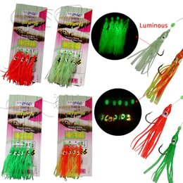 squid fishing jig hooks UK - Lures 20pcs (4 Packs) Fishing Sabiki Rigs Freshwater Saltwater Glow Squid Jig Bait Hooks With Swivel Snap Sabiki Fishing Lure