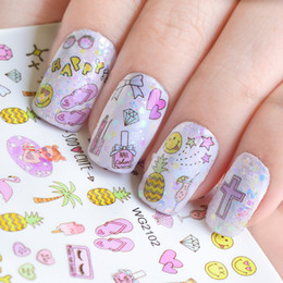 $enCountryForm.capitalKeyWord Australia - 1 Sheet Nail Slider Tattoo Nail Sticker Wraps Cute Cartoon Flower Adhesive Watermark Manicure DIY Decoration Tips JIWG2100-2110