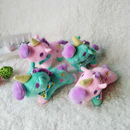 $enCountryForm.capitalKeyWord Australia - 10pcs Cute Cartoon Stuffed Toys Twin Stars Unicorn Macarons Pony Doll Plush Stuff Toys for Children Unicornio Bag Pendant Dolls Gifts