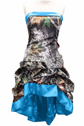 camo ball gowns Australia - short front long back high low camo prom dresses 2020 camouflage party dress ball gowns custom make size free shipping