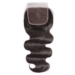 China Virgin Brazilian Hair Lace Closure 5X5 Straight Body Wave 8-20Inch Swiss Lace Closure Human Hair Extensions cheap human hair 5x5 lace closure suppliers
