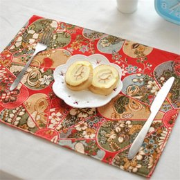 Discount modern table cloths - High Quality Lotus Placemat Mat Table Cloth Lotus Modern New Chinese Hotel Clubhouse Napkin Table Decoration